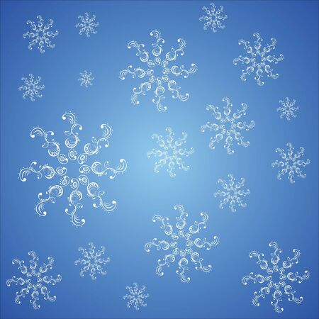 seamless pattern with snowflakes Stock Vector - 15354393