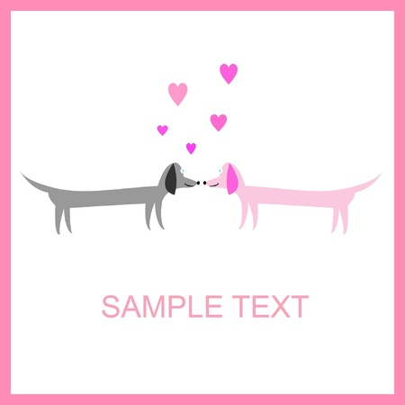 sentiment: couple of dogs Illustration