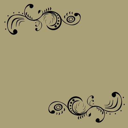 black pattern on a gray background Stock Vector - 15354089