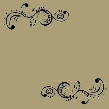 black pattern on a gray background