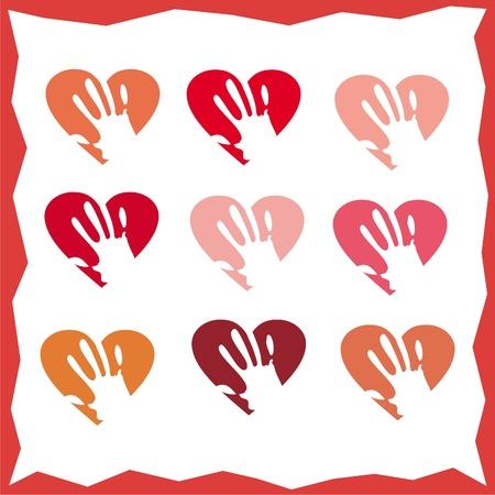 hand houden van het hart Stock Illustratie