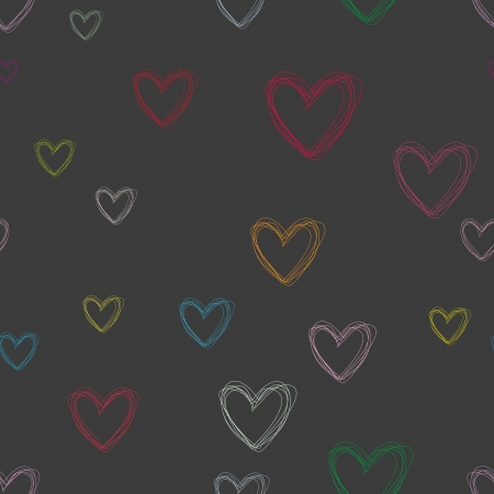 seamless pattern of hearts for Valentine Vector