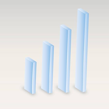 moderate: Graph  illustration  Diagram of growth   Business indicators  Displaying development  Blue, low-key, moderate and neutral color  Illustration