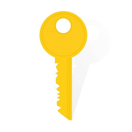 golden security key, illustration