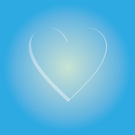 Background, Valentine's day, white and heart on a blue, heart background Stock Vector - 20564072