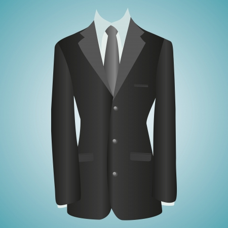 office dress, black jacket, shirt, tie, suit Stock Vector - 20563958
