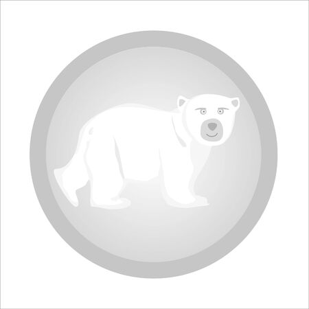 white bear logo Stock Vector - 20563952