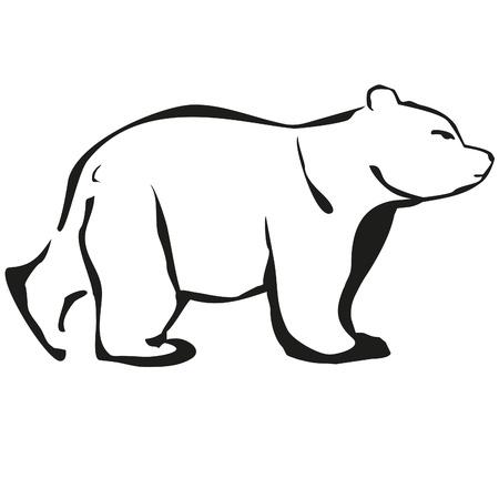 fiambres: esboza oso blanco logo negro