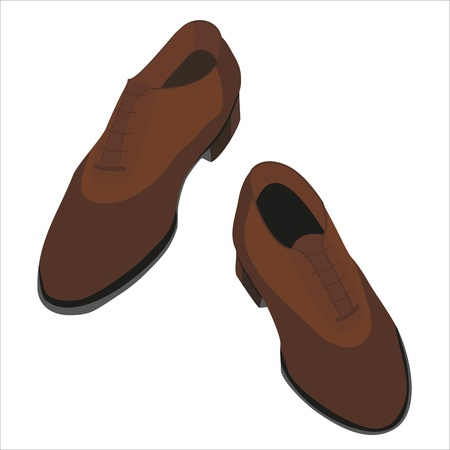 business shoes for men illustration Vector