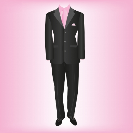 formal clothing: business wear, classic mens suit Illustration