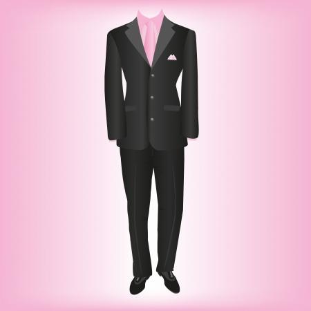 white coat: business wear, classic mens suit Illustration