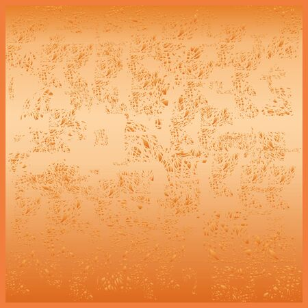 Grunge background in orange color. Wall texture. Bright surface.