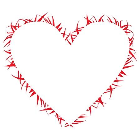 heart in fire,  illustration, backgraund, burning frame Vector