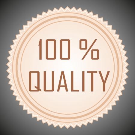Quality guarantee sign. Vector illustration.