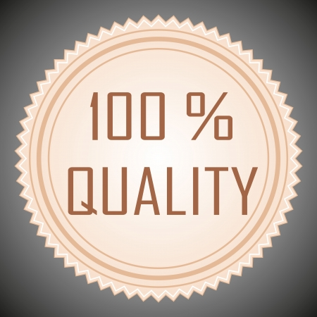 Quality guarantee sign. Vector illustration. Vector