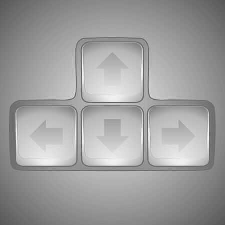 Arrow sign icon set. Simple internet button on dark background. Contemporary modern style. Vector illustration Stock Vector - 24350817