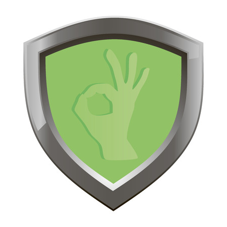 ok symbol: OK hand symbol, OK symbol, OK sign icon, okay hand sign on a green board