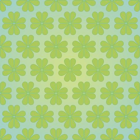 seamless floral pattern, vector illustration. Green clover design. Illustration