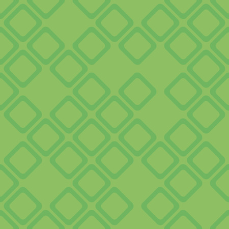 Vector seamless pattern with rhombs. Modern stylish texture in green. Ilustração