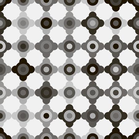 seamless floral pattern, vector illustration. Dark geometric design. Vettoriali