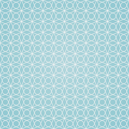 seamless pattern, geometric background in blue and white colors, vector illustration Illusztráció