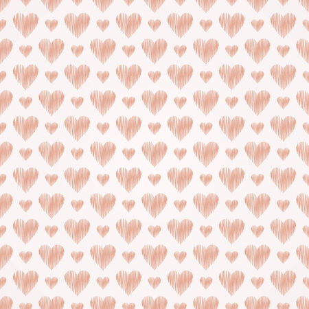 seamless heart's pattern, pink pastel vector illustration. Valentine's day Vector