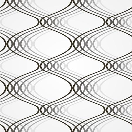 seamless geometric pattern, dark black and white vector illustration Vettoriali