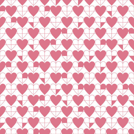 seamless heart's pattern, pink vector illustration. Valentine's day Vector
