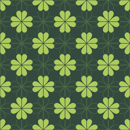 seamless pattern, clover deaign, green vector illustration