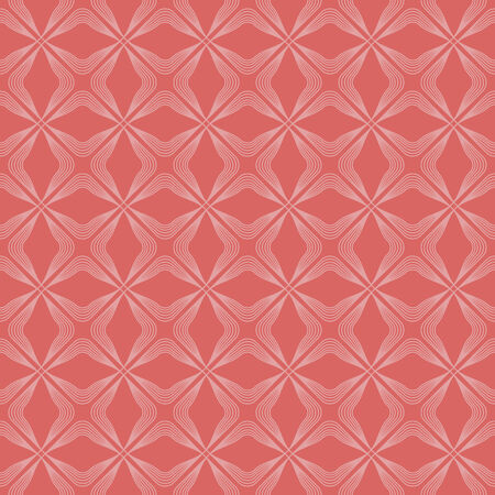 seamless pattern, light background with red elements, geometric design, vector illustration Illustration