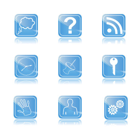 web button with icons for website. E-commerce web button. Vector illustration Illustration
