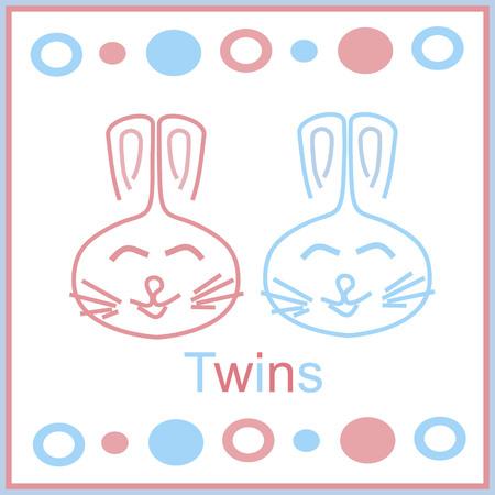 future twin: card for newborn twins