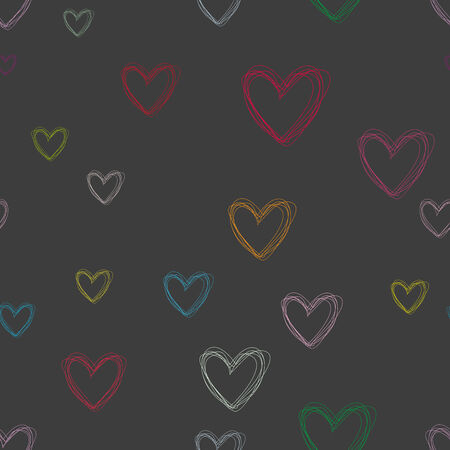 seamless pattern of hearts for Valentines day photo