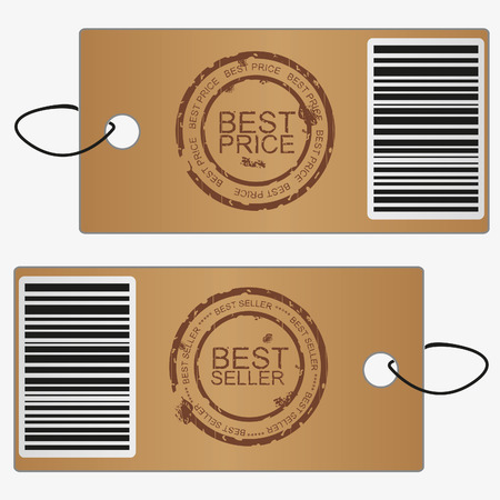 Bubbles, stickers, labels, tags.Stamp best rice and best seller. Vector template photo
