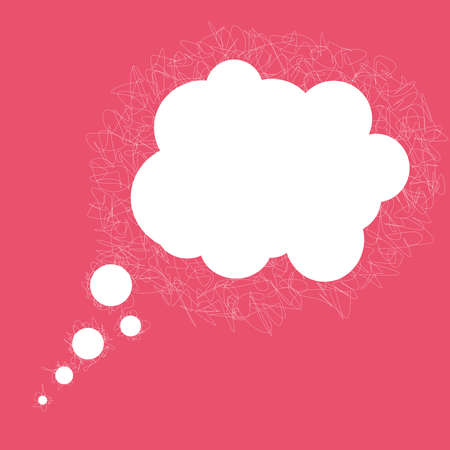 Vector pink bubble. Display of conversation or thoughts. Illustration of talking cloud.