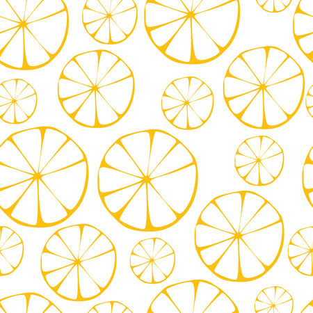 Vector lemon pattern, seamless background  Stok Fotoğraf