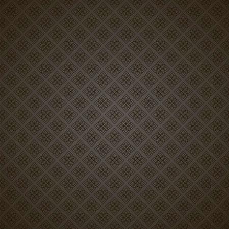 seamless floral pattern, vector illustration. Dark geometric design. Stock Photo
