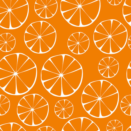 greengrocery: Vector orange pattern, seamless background  Stock Photo