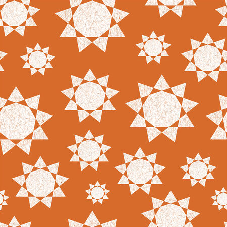 Seamless  pattern with geometric suns. Can be used in textiles, for book design, website background Reklamní fotografie