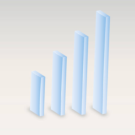 moderate: Graph. Vector illustration. Diagram of growth. Eps 10. Business indicators. Displaying development. Blue, low-key, moderate and neutral color.