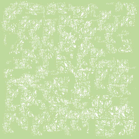 Green abstract background. Old worn texture. Vector illustration.