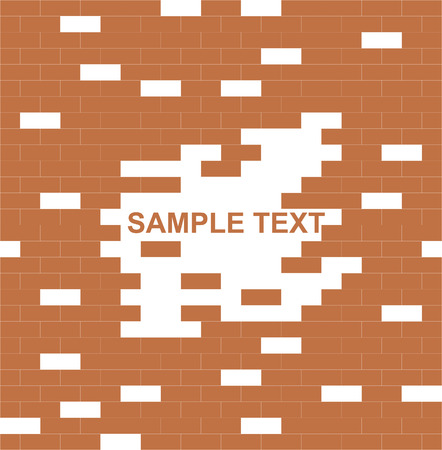 wall, brown, brick - with place for text vector illustration Stock fotó