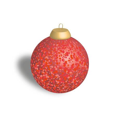 Christmas ball on white.