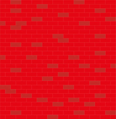 wall, red and white, brick, vector illustration