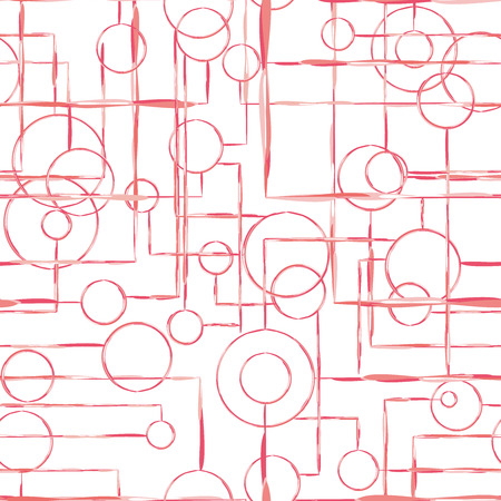 Vector illustration of seamless pattern scheme. abstract red background. Circuit texture. The mapping relationships and interdependencies. Community and connection. illustration