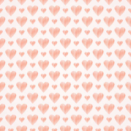 seamless heart's pattern, pink pastel vector illustration. Valentine's day illustration