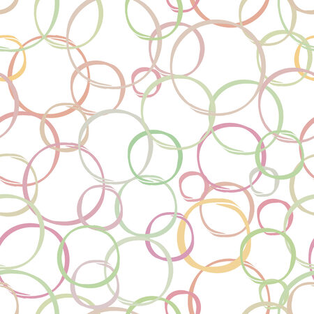seamless pattern, geometric design with circles, pink, yellow and green pastel vector illustration illustration