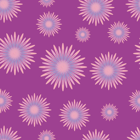 seamless pattern with lilac flowers on dark lilac background. Elegant vector illustrations for textile or fabric printing. Fresh summer motives Reklamní fotografie