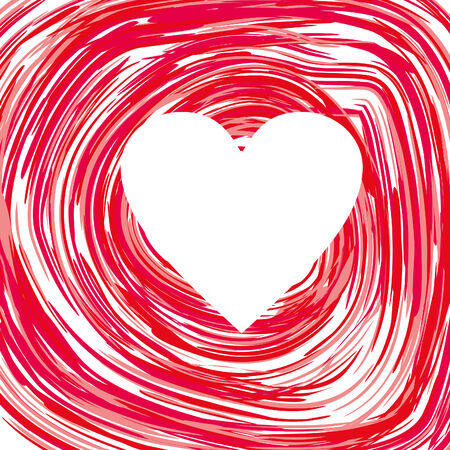 background with white heart and red circles, vector