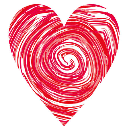 heart in a red circles, vector